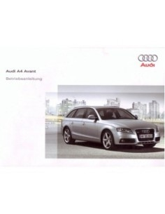 2008 AUDI A4 OWNERS MANUAL HANDBOOK GERMAN