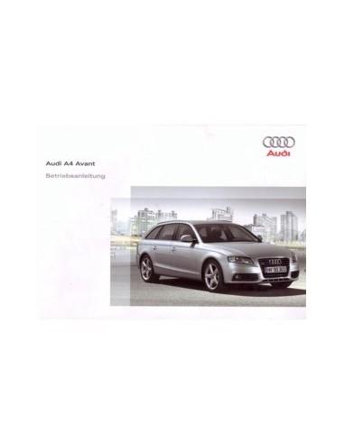 2008 AUDI A4 INSTRUCTIEBOEKJE DUITS