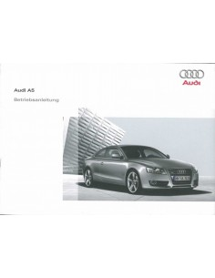 2008 AUDI A5 OWNER'S MANUAL GERMAN