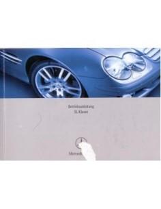 2005 MERCEDES BENZ SL CLASS OWNERS MANUAL HANDBOOK GERMAN