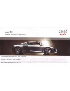 2006 AUDI R8 QUICK OWNERS MANUAL HANDBOOK ENGLISH