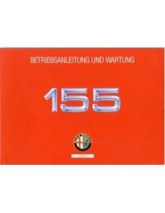 1992 ALFA ROMEO 155 OWNERS MANUAL HANDBOOK GERMAN