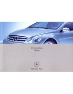 2006 MERCEDES BENZ R CLASS OWNERS MANUAL HANDBOOK GERMAN