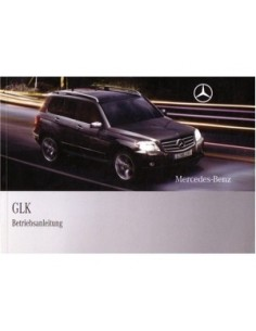 2008 MERCEDES BENZ GLK CLASS OWNERS MANUAL HANDBOOK GERMAN