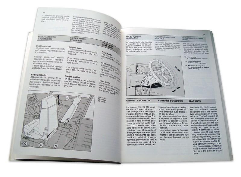 1987 ferrari 3 2 mondial owner 39 s manual 474 87. Black Bedroom Furniture Sets. Home Design Ideas