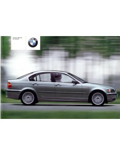 2001 BMW 3 SERIES OWNERS MANUAL HANDBOOK ENGLISH