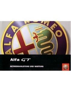 2004 ALFA ROMEO GT OWNERS MANUAL HANDBOOK GERMAN