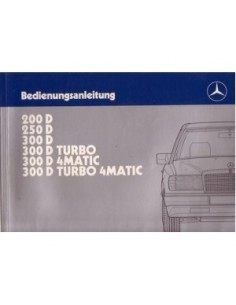 1988 MERCEDES BENZ E CLASS DIESEL OWNERS MANUAL GERMAN