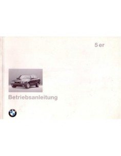 1994 BMW 5 SERIES OWNERS MANUAL HANDBOOK GERMAN