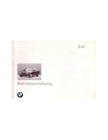 1994 BMW 5 SERIE INSTRUCTIEBOEKJE DUITS