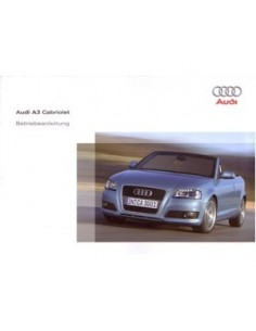 2009 AUDI A3 CABRIOLET OWNERS MANUAL HANDBOOK GERMAN