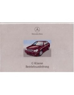 2000 MERCEDES BENZ C CLASS OWNERS MANUAL GERMAN