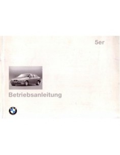 1995 BMW 5 SERIES OWNERS MANUAL HANDBOOK GERMAN