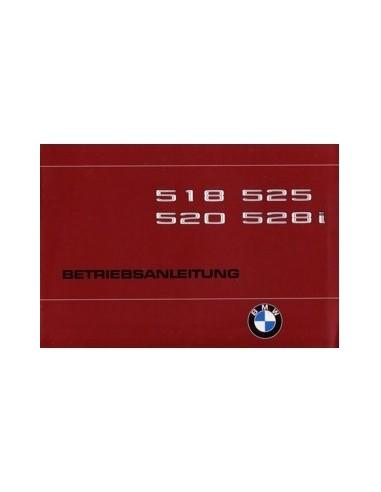 1980 BMW 5 SERIE INSTRUCTIEBOEKJE DUITS