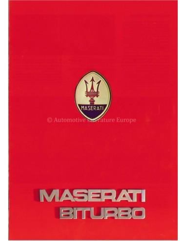 1984 MASERATI BITURBO BROCHURE ENGLISH