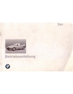 1994 BMW 3 SERIES COMPACT OWNERS MANUAL HANDBOOK GERMAN