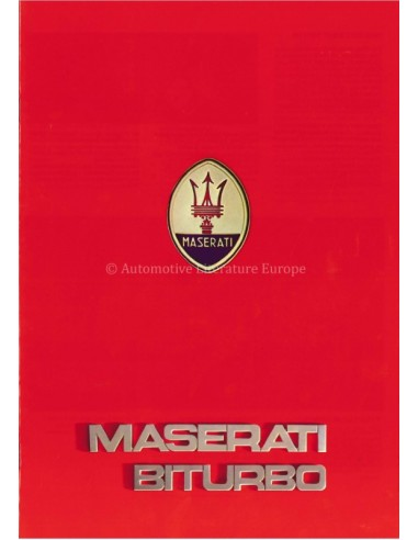 1983 MASERATI BITURBO BROCHURE ITALIAANS