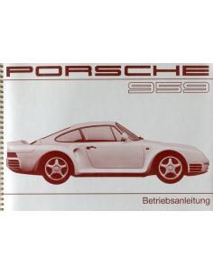 1987 PORSCHE 959 INSTRUCTIEBOEKJE DUITS