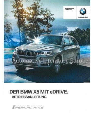 2016 BMW X5 EDRIVE INSTRUCTIEBOEKJE DUITS