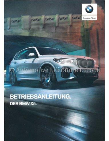 2019 BMW X5 INSTRUCTIEBOEKJE DUITS