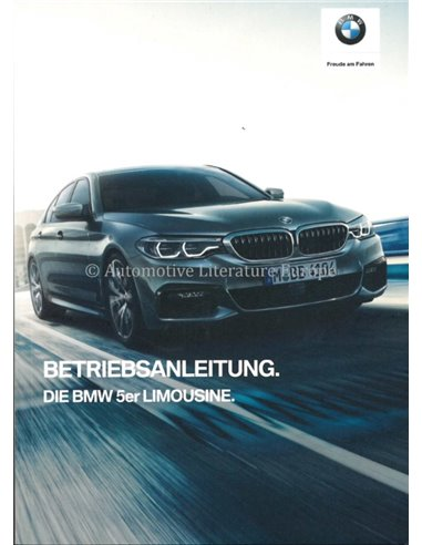 2019 BMW 5 SERIES LIMOUSINE OWNERS MANUAL GERMAN
