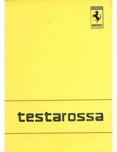 1988 FERRARI TESTAROSSA INSTRUCTIEBOEKJE 496/88