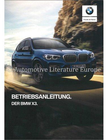 2018 BMW X3 OWNERS MANUAL HANDBOOK GERMAN