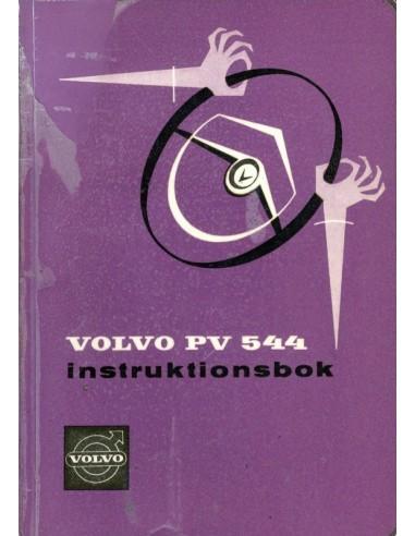 1960 VOLVO PV 544 INSTRUCTIEBOEKJE ZWEEDS