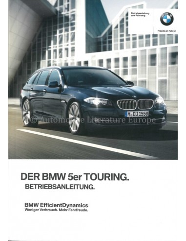 2012 BMW 5 SERIES TOURING OWNERS MANUAL GERMAN