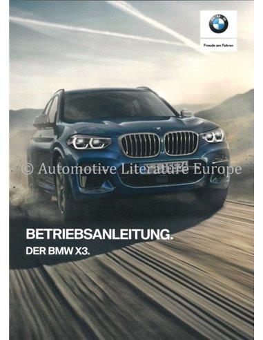2019 BMW X3 OWNERS MANUAL GERMAN