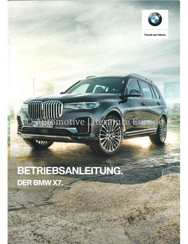 2018 BMW X7 OWNERS MANUAL GERMAN