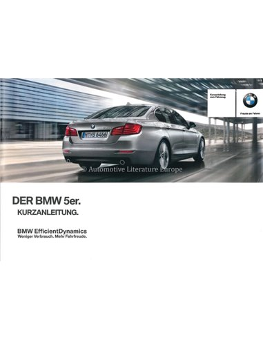 2014 BMW 5 SERIES QUICK REFERENCE GUIDE GERMAN
