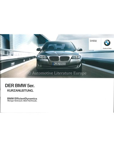 2013 BMW 5 SERIES QUICK REFERENCE GUIDE GERMAN