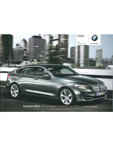 2012 BMW 5 SERIES QUICK REFERENCE GUIDE GERMAN