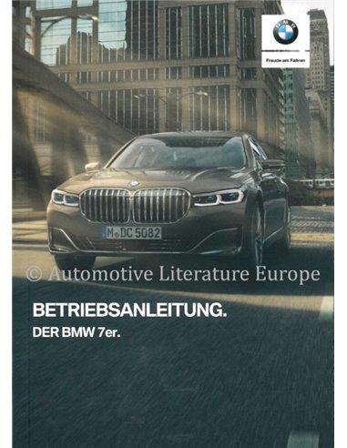 2019 BMW 7 SERIE INSTRUCTIEBOEKJE DUITS