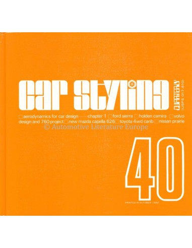 1982 CAR STYLING 40-QUATERLY- BOOK