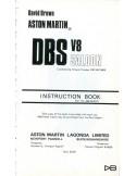 1971 ASTON MARTIN DBS V8 INSTRUCTIEBOEKJE ENGELS