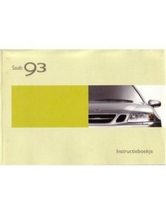 2003 SAAB 9.3 OWNERS MANUAL HANDBOOK DUTCH