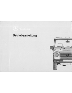 1991 MERCEDES BENZ G GD CLASS OWNER'S MANUAL GERMAN