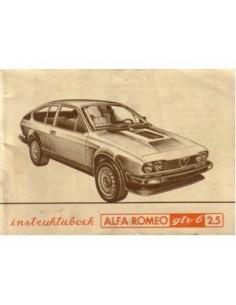 1981 ALFA ROMEO GTV6 2.5 BETRIEBSANLEITUNG NIEDERLANDISCH