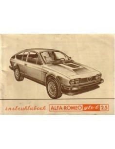 1981 ALFA ROMEO GTV6 2.5 OWNERS MANUAL DUTCH