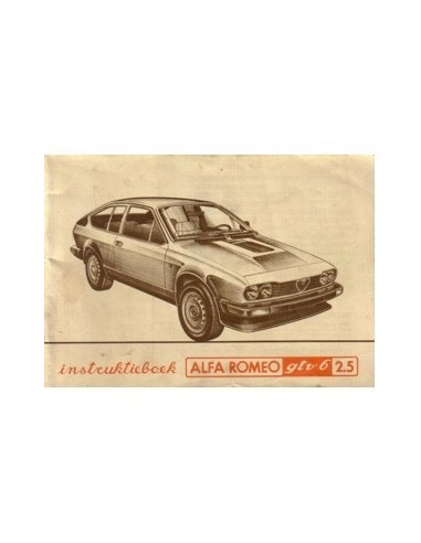 1981 ALFA ROMEO GTV6 2.5 INSTRUCTIEBOEKJE NEDERLANDS