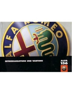 1998 ALFA ROMEO 156 OWNERS MANUAL GERMAN