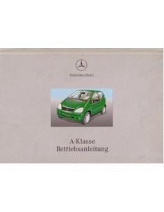 2000 MERCEDES BENZ A CLASS OWNERS MANUAL HANDBOOK GERMAN