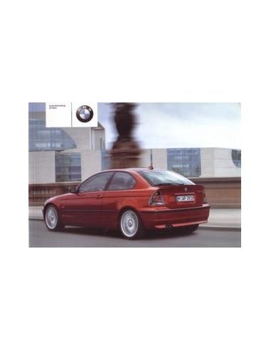 2001 BMW 3 SERIE COMPACT INSTRUCTIEBOEKJE DEENS