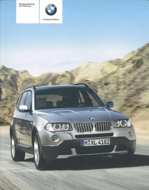 2008 bmw x3 owner s manual german rh autolit eu 2007 BMW X3 2015 BMW X3