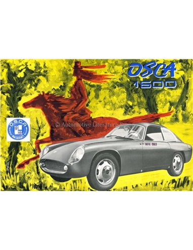 1963 OSCA 1600 GT FISSORE BROCHURE ITALIAN