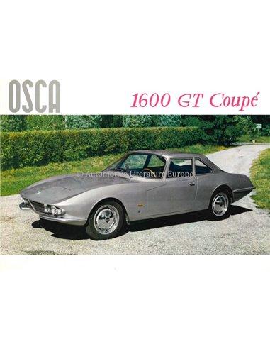 1963 OSCA 1600 GT COUPE BROCHURE ITALIAN