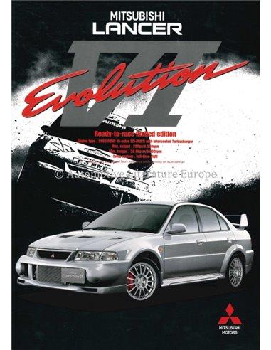 1999 MITSUBISHI LANCER EVOLUTION VI BROCHURE ENGLISH