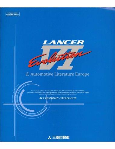 1999 MITSUBISHI LANCER EVOLUTION VI ACCESSORIES CATALOGUE BROCHURE ENGLISH